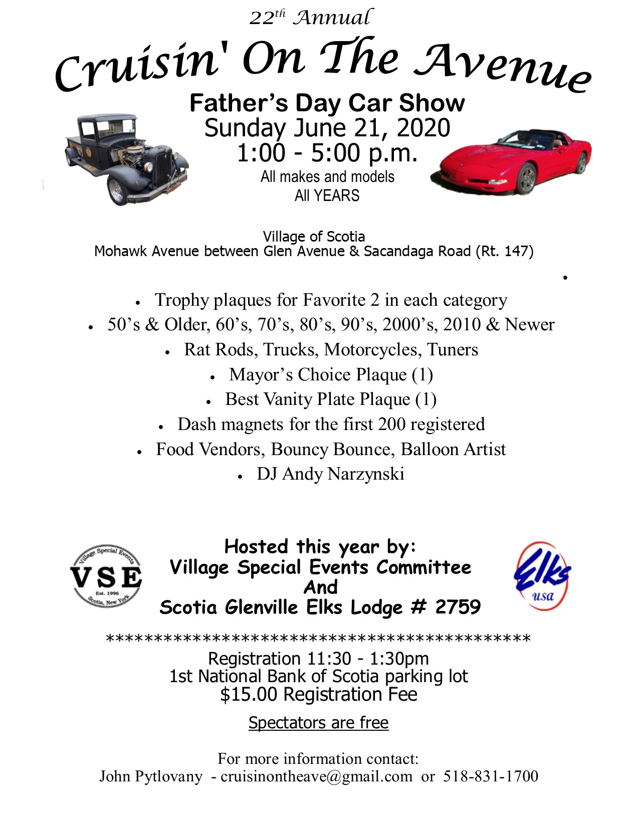 Fathers Day Car Show 2020.The Village Of Scotia Presents Cruisinontheave Com